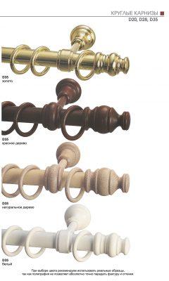 Круглые карнизы D20,D28,D35 УЮТ