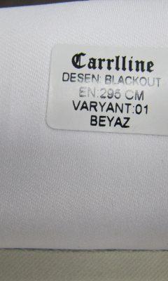 Каталог Design BLACKOUT VARYANT 01 BEYAZ CARRLLINE (КАРРЛИН)