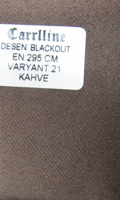 Каталог Design BLACKOUT VARYANT 21 KAHVE CARRLLINE (КАРРЛИН)