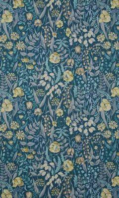 350 «Flower art» / 8 Cotswold Prussian ткань
