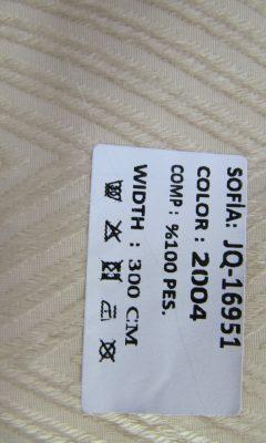 ТКАНЬ Desing JQ-16951 Color: 2004 SOFIA (СОФИЯ)