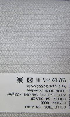 SERIE: Ontario DESIGN 8800 Color: 24 silver ТКАНИ CASABLANCA (КАСАБЛАНКА)
