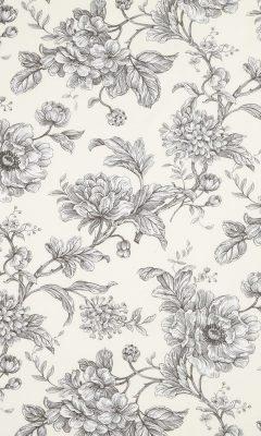 350 «Flower art» / 3 Aquitaine Charcoal ткань