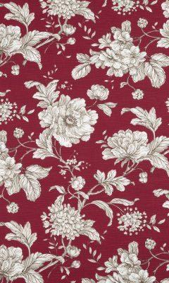 350 «Flower art» / 6 Aquitaine Rouge ткань