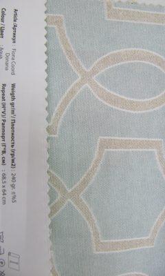 Design ACERTADO Collection Colour: Agua Vip Decor/Cosset Article: Fiona Coord Donana