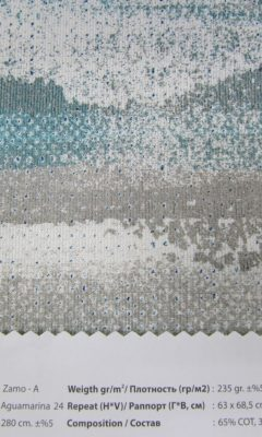 Design ACERTADO Collection Colour: Aguamarina 24 Vip Decor/Cosset Article: Zamo-A
