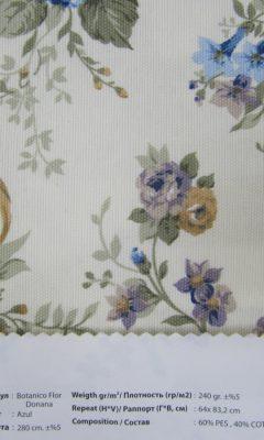 Design ACERTADO Collection Colour: Azul Vip Decor/Cosset Article: Botanico Flor Donana