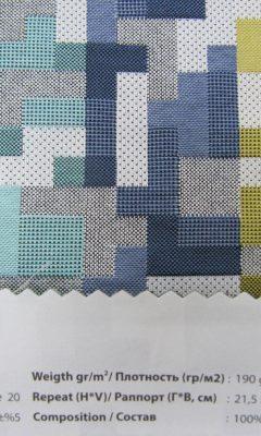 Design ACERTADO Collection Colour: Azul Blue 20 Vip Decor/Cosset Article: Tetris A