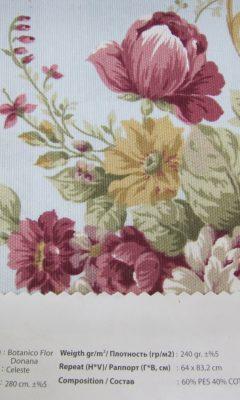 Design ACERTADO Collection Colour: Celeste Vip Decor/Cosset Article: Botanico Flor Donana