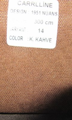 Каталог Design 1951 NUANS VARYANT 14 COLOR K.Kahve CARRLLINE (КАРРЛИН)