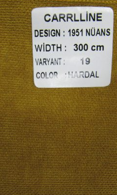 Каталог Design 1951 NUANS VARYANT 19 COLOR Hardal  CARRLLINE (КАРРЛИН)