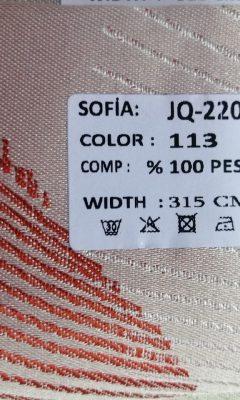 ТКАНЬ Desing JQ-22005 Color 113 SOFIA (СОФИЯ)