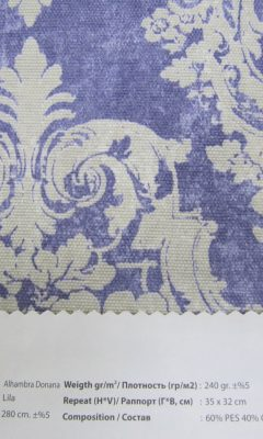 Design ACERTADO Collection Colour: Lila Vip Decor/Cosset Article: Alhambra Donana