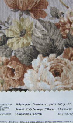 Design ACERTADO Collection Colour: Marron Vip Decor/Cosset Article: Botanico Flor Donana