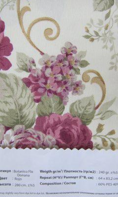 Design ACERTADO Collection Colour: Roja Vip Decor/Cosset Article: Botanico Flor Donana