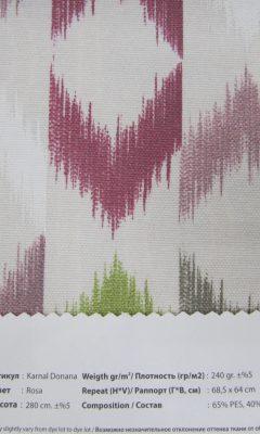 Design ACERTADO Collection Colour: Rosa Vip Decor/Cosset Article: Karnal Donana