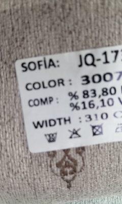 ТКАНЬ Desing JQ-17384 Color 3007 SOFIA (СОФИЯ)