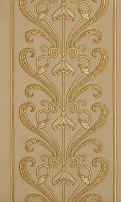 MUCHA STRIPE CREAM Art Nouveau GALLERIA ARBEN