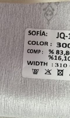 ТКАНЬ Desing JQ-17384 Color 3001 SOFIA (СОФИЯ)